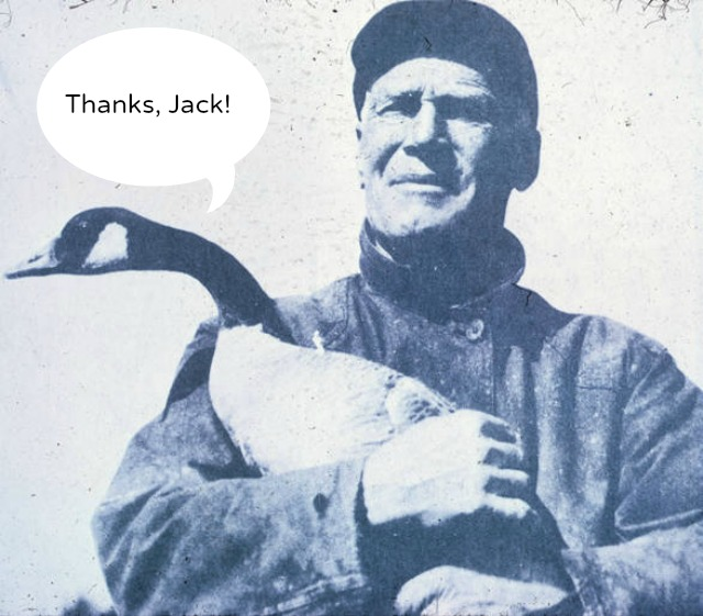 Photo of Jack Milner holding a Canada Goose
