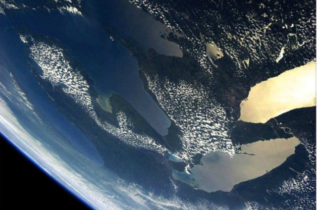 Arial view of the great lakes from space