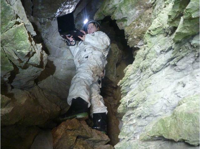 Karen in cave