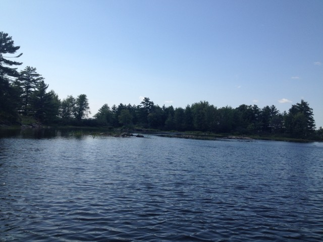 A beautiful day to be setting eel traps below Chats dam near Fitzroy Harbour, Ontario!