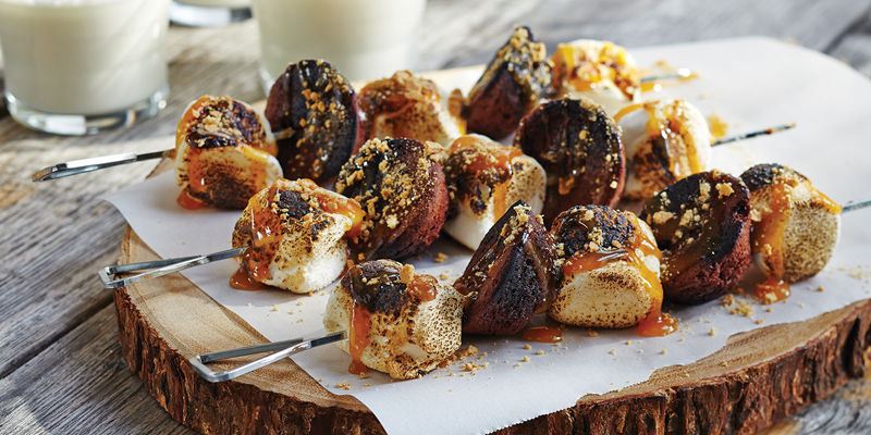 #GreatCanadianCampout S'mores Skewers