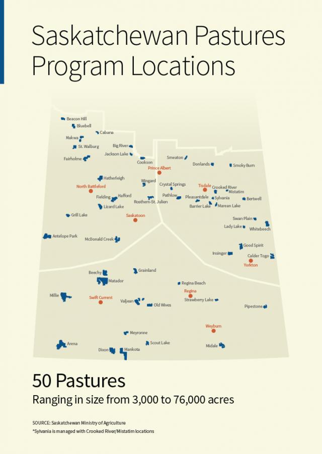Saskatchewan Pastures Program Locations