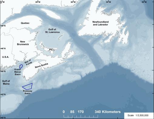Grand Manan Basin and Roseway Basin