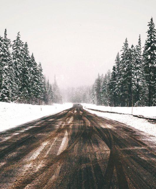 salt on the road