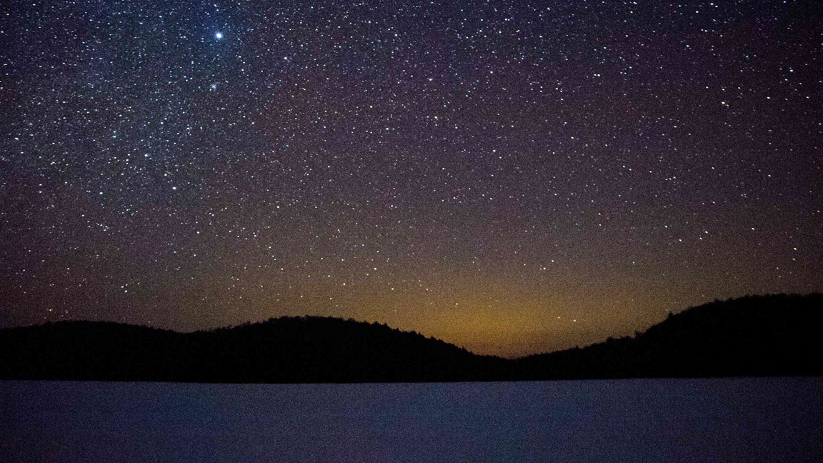 Winter Camping Beneath the Stars in Algonquin Provincial Park