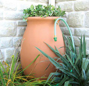 Go Ceramic @ http://www.verticalraingarden.com/top-rain-barrel-gardens-under-200/dual-spigot-decorative-rain-barrels