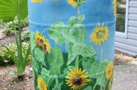 Sunflowers @ http://www.ebizbydesign.com/1336/ideas/nice-ideas-decorative-rain-barrels-design-17-best-ideas-about-decorative-rain-barrels-on-pinterest-rain/