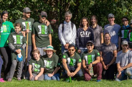 Thanks to all who helped plant trees for our TD event planting trees!