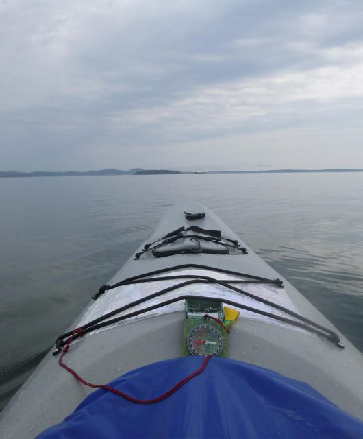 front of kayak pov