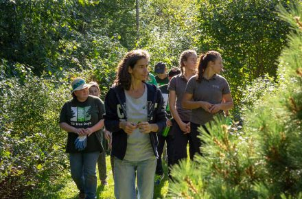 Touring the CWF Demonstration Gardens after planting 89 trees!