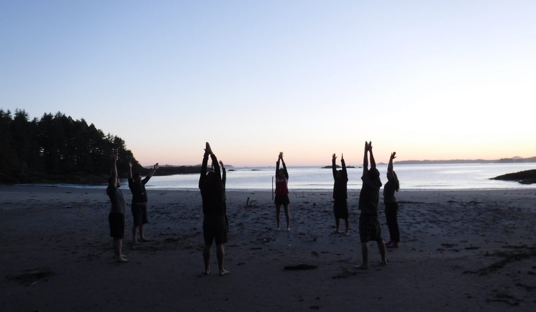 ccc yoga beach sunrise
