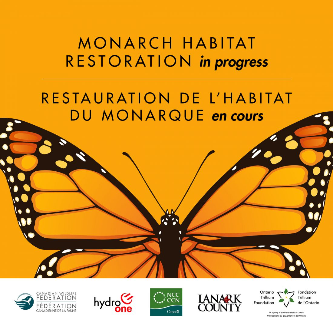 monarch restoration sign