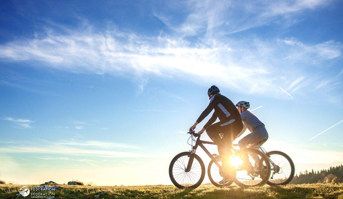 biking sunrise