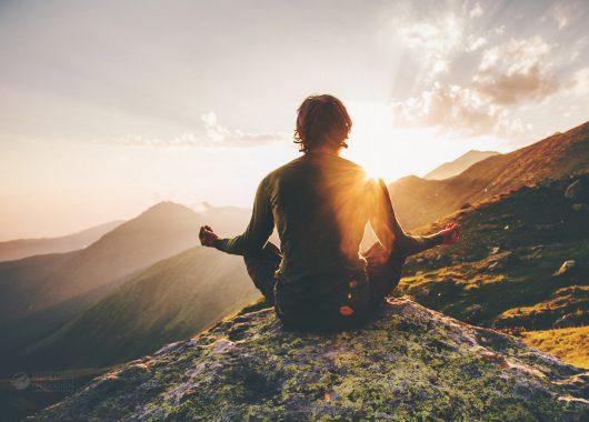 nature meditate mountain