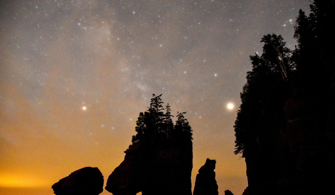 hopewell rocks at night