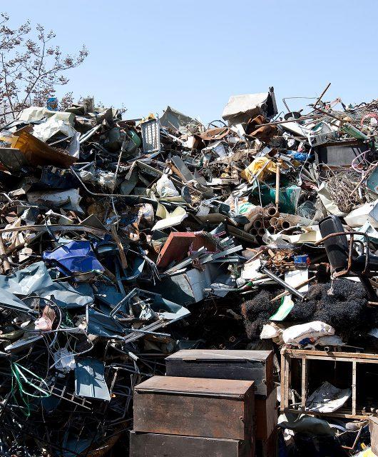 garbage pile iron
