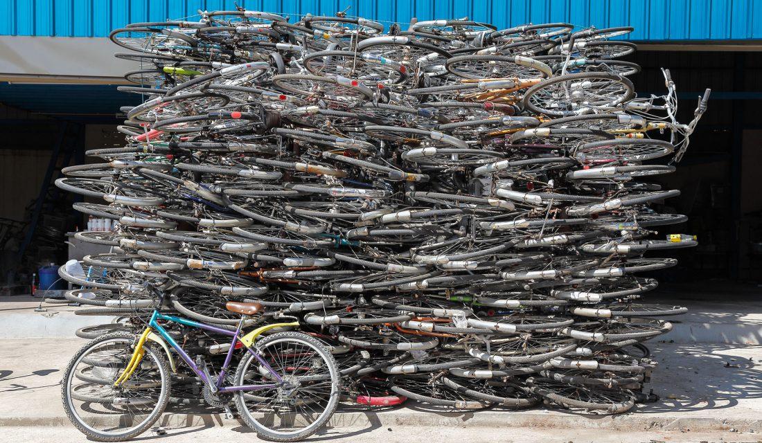 scrap bicycles