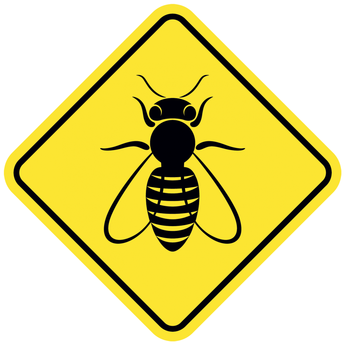 bee danger illustration