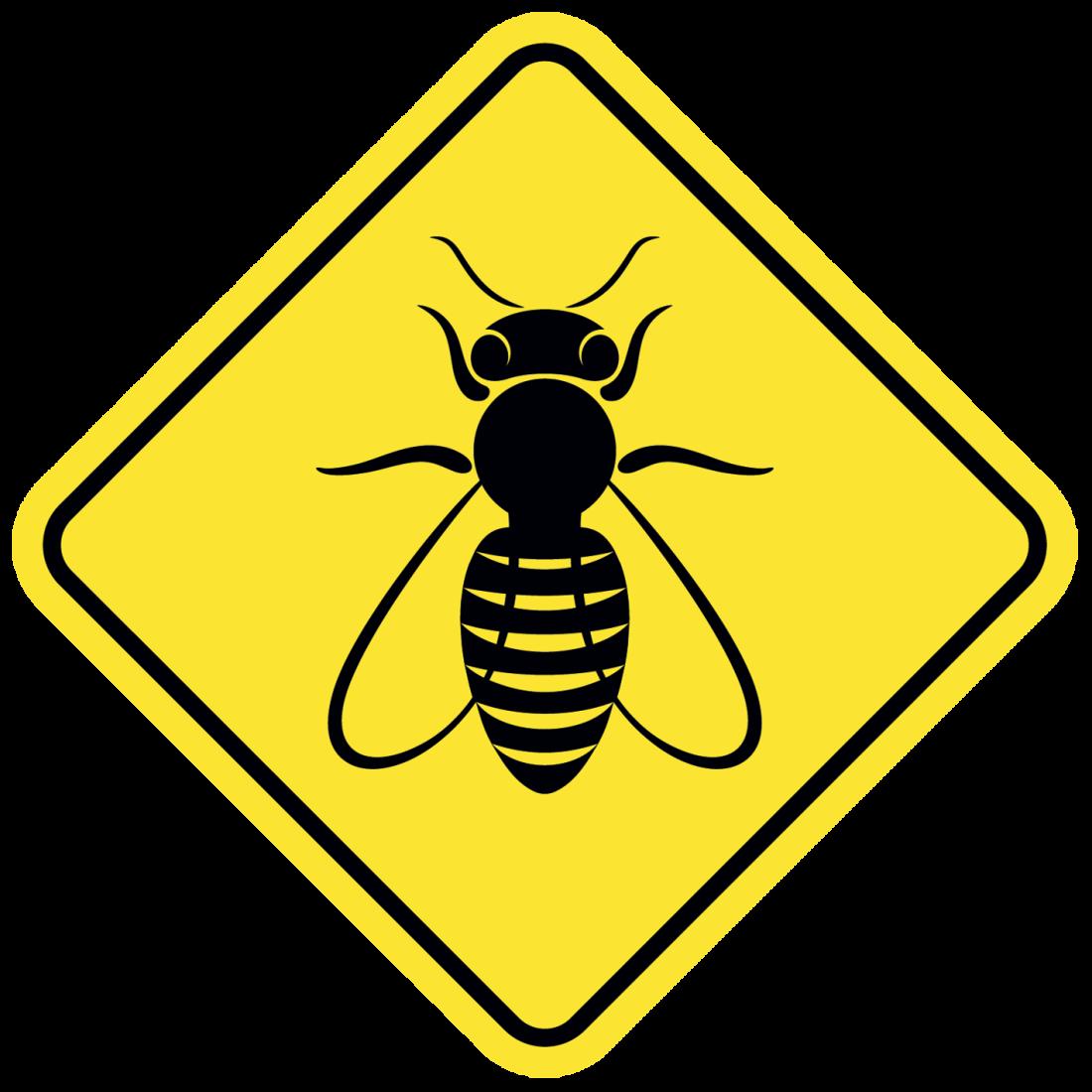 bee danger illustration