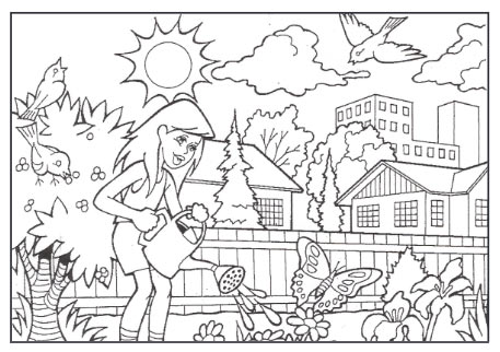 gardening colouring page thumb