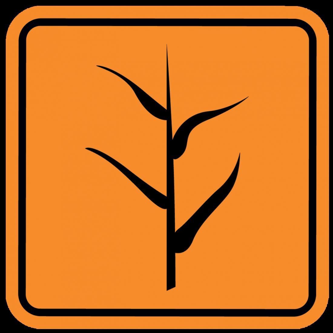 plant danger sign