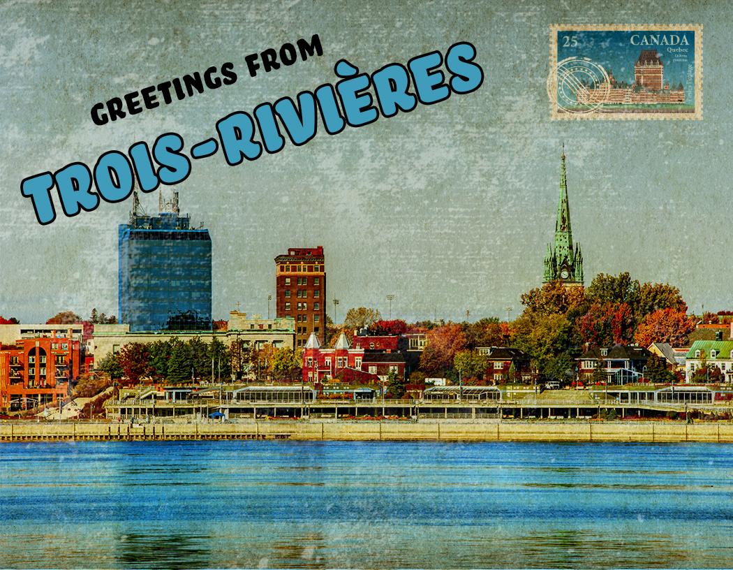 trois rivieres postcard